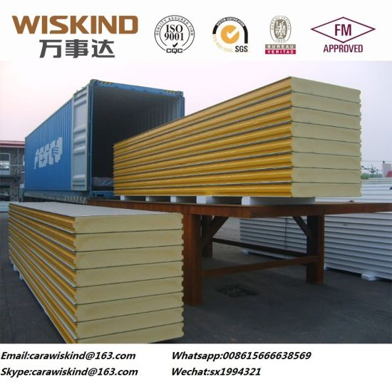 50mm/75mm/100mm/150mm/200mm/300mm Polyurethane Sandwich Panel for Cold Stroge or Cleanroom