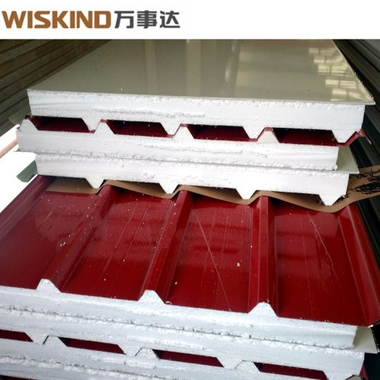 Best Quality EPS / Glass Wool / Rock Wool Sandwich Panel for Steel Structure Workshop
