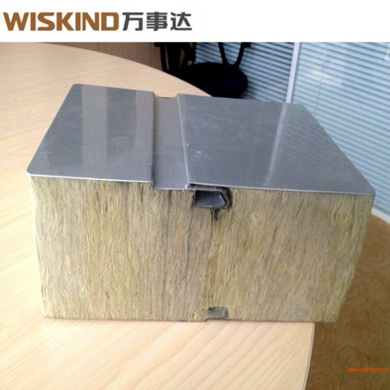 1150 Type Rock Wool Sandwich Panel for Steel Structure Warehouse