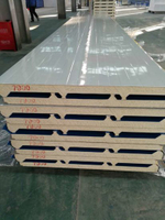 50mm/75mm/100mm/150mm/200mm Fireproof Rock Wool/PU Sandwich Panel for Outside Wall and Roof Inside Wall