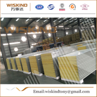 50mm/75mm/100mm Rock Wool Sandwich Panel Used Steel Structure