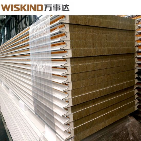 PU Edge Sealed Rock Wool Sandwich Panel From China Supplier
