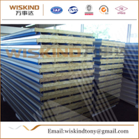 50mm/75mm/100mm Rock Wool Sandwich Panel for Warehouse